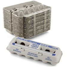 Large Egg Cartons Printed Natural Pulp (Holds 1 Dozen Eggs) -15 Pieces