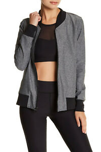 WOMEN size MED Stretch BOMBER JACKET Top RUN Sport FITNESS Yoga ATHLETIC Workout