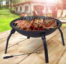 Portable Bbq Grill Outdoor Fire Pit Foldable Barbecue Table Camping Picnic