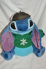 "Disney Store 12"" MC Cozy Cabels Lilo & Stich W/Winter Sweater & Hat Plush"