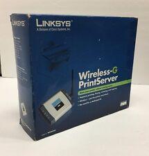 Linksys Wpsm54G Wireless-G Print Server 802.11b / g, Rj45 Usb 2.0 (New)