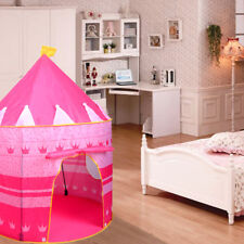 Play Tent Portable Folding Pop Up Kids Girl Princess Castle Outdoor House Pink
