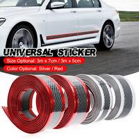 Car Protector Strip Carbon Fiber Rubber Door Sill Protector Stickers 3 m x 7 cm