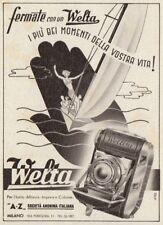 Z3712 Macchina fotografica WELTA - Pubblicità d'epoca - 1940 vintage advertising