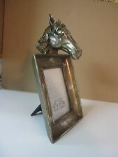 """3 D Horse Head Picture Frame - 4"""" X 6"""" - Gold"""