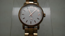 Marc by Marc Jacobs Women's MBM3248 Baker Mini Rose Tone Watch USED AS-IS