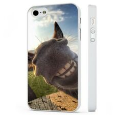 Donkey Grin Smiling Funny Face Big Ears WHITE PHONE CASE COVER fits iPHONE