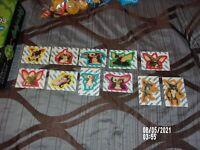 GREMLINS 1984 TOPPS MOVIE STICKER CARD SET/LOT OF 11 COMPLETE