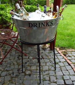 BIERKÜHLER BIER EIS WANNE DRINKS SEKTKÜHLER MIT STÄNDER & ÖFFNER GETRÄNKE PARTY