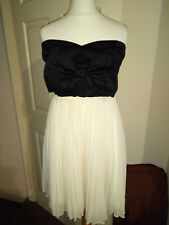 BNWT Paprika Ladies Black & Nude Bustier Dress Size 12