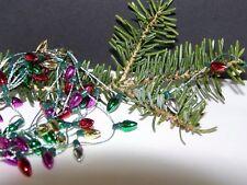 Mini Christmas Garland Metallic Colored Bulbs Multi-Color 8' Craft Supply Decor