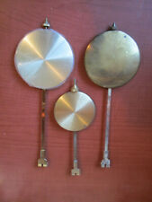 Lot Of 3 Quartz Clock Pendulums. (715I)