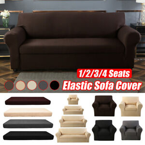 2-piece Set Stretch Sofa Cover Couch Lounge Recliner Chair Slipcover Protect
