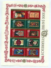Austria 1996 1000th anniv minisheet fine mint