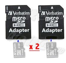 2 X MICROSD ADATTATORI ADAPTERS CARD MICRO SD VERBATIM UNIVERSALE SANDISK ETC.