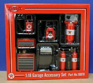 GMP 18870 1:18 7 Pc Texaco Garage Accessories Set Mint/ Boxed