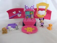 Minnie Mouse Bowtique Minnies Pet Tour Van 8 Play Pieces Fold n Go Fisher Price