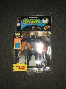 Tremor Action Figure  McFarlane Spawn Rare Green Color 1994 With Comic