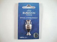"EM-Pin ""Pokal"" UEFA Euro 2016 tm Cup France Vencedor Portugal troféu"