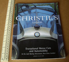 Motor Cars & Automobilia at Jack Barclay.Christie's London Year 2000 Catalogue