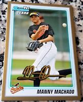 MANNY MACHADO 2010 Bowman GOLD SP Rookie Card RC Baltimore Orioles 34 HRs