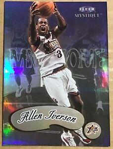 1999-00 ALLEN IVERSON FLEER MYSTIQUE CARD(2) #1 PHILADELPHIA 76ERS
