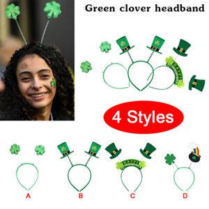 Irish St. Patricks Day Green Hat Headband Lucky Small Hat Clover Headwear De.BI