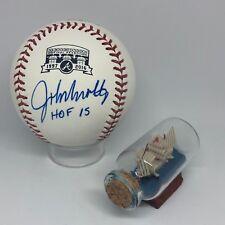 John Smoltz signed Rawlings Braves Turner Logo Baseball JSA Inscribed HOF A942