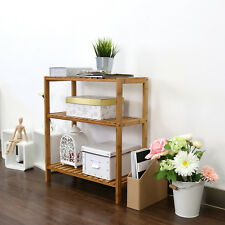 3 Tiers Bamboo Kitchen Stand Holder Display Storage Shelving Rack Home Organizer