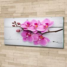 Glas-Bild Wandbilder Druck auf Glas 140x70 Blumen /& Pflanzen Orchidee auf Holz