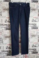 G by GUESS Eva Skinny Dark Blue Stretch Denim Low Rise Jeans size 28 W