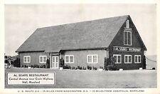 Hall Maryland Al Sears Restaurant Crain Highway Antique Postcard (J19587)