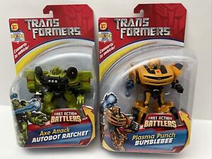 Transformers Fast Action Battlers 2007 Plasma Punch Bumblebee & Axe Ratchet