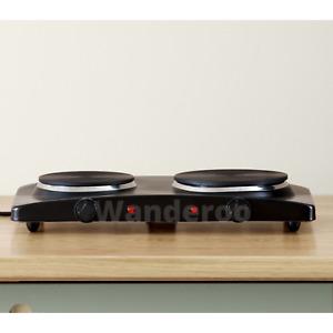 Double Hot Plate Dual Electric Burner Caravan Travel Cooking Portable Cooktops
