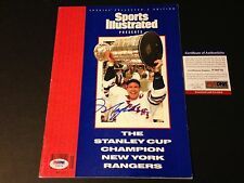 Mark Messier Rangers 1994 Stanley Cup Sports Illustrated SI Signed Auto PSA/DNA