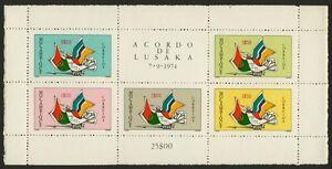 Mozambique 515a MNH Bird, Flags, Lusaka Agreement