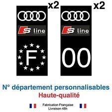 Stickers autocollant plaque d'immatriculation Audi S LINE Noir