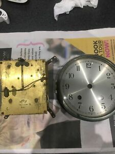 Vintage Empire Clock Parts For spares Only Movement & Bevelled Glass & Dial