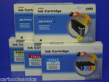 n 10 CARTUCCE COMPATIBILI STAMPANTE EPSON WORKFORCE PRO WP4525DNF