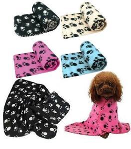 Pet Winter Warm Paw Print Fleece Blanket for Cat Kitten Dog & Puppy