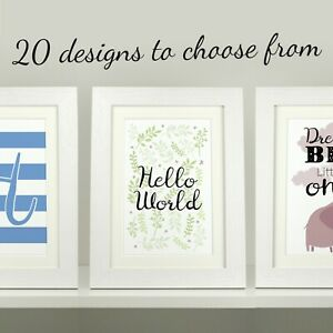 Personalised nursery prints / Childrens bedroom / Wall art decor / 20 DESIGNS