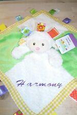 Lamb Taggie Animal Blanket Personalized Security Blanket Baby Blankie