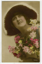 c 1920 Fashion LOVELY YOUNG LADY in Hat Glamour Glamor photo postcard