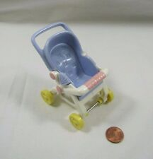 Rare! FISHER PRICE Loving Family Dollhouse STROLLER Baby Pram Lavendar Rolls!