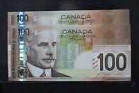 2 x 2004 Canada 100 dollar Jenkins / Dodge Consecutive - EJH AU+