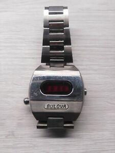 🇺🇲 Bulova Accuquartz Led Red Orologio Watch Vintage