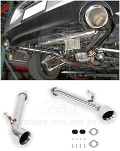 For 17-Up Infiniti Q60 Muffler Delete Axle Back Double Wall Dual Tips Exhaust