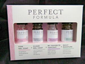 Perfect Formula Nail Essentials Collection 4 bottles NIB MZ