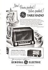 1951 General Electric Table Radio Retro / Vintage American Magazine Advert