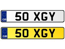 * 50 XGY * DATELESS 2X3 CHERISHED PERSONAL PRIVATE REGISTRATION NUMBER PLATE GY